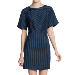 REBECCA MINKOFF | sz 2 Europa stripe sheath dress